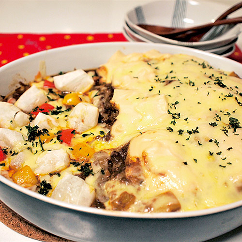 お餅のカレーグラタン&カレードリア ハーフ&ハーフ